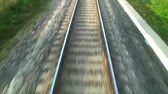 travel : Close view of railroad track