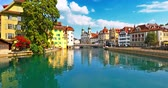 cathedral : Scenic summer panorama of the Old Town medieval architecture in Lucerne, Switzerland