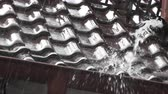 gutter system : rainwater beats from the drainpipe in germany