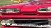 cubano : American retro cars,  Red Classic Chevrolet .