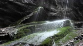 green canyon : Mountain waterfall in bavaria,germany Stock Footage