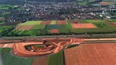 dia soleado : top view of germany fields Archivo de Video