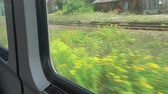 cabine : railway traffic view through the window