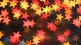 Bokeh Abstract background in the form of stars Стоковые видеозаписи