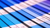 greyhound : Colour swatches book. Rainbow sample colors catalog. Stock Footage