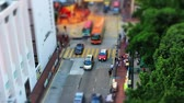 Car traffic with miniatures effect