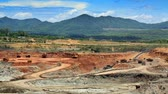 front end loader : open pit lignite mine in the Maemoh,Lampang,Thailand  Stock Footage