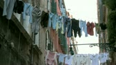 halenka : Clothes on washing line in the backyard in Venice