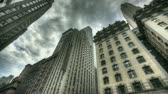 view : HDR Timelapse of Central park and New York City Uptown with passing clouds Stock Footage