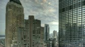 city lights : HDR Timelapse Urban Canyon New York City Stock Footage