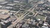 intersection : Aerial view of highway interchange in Chicago, Illinois