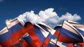 sky : Waving Russian Flags (seamless & alpha channel)