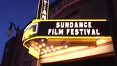 Park City, Utah -- January, 2014:   Egyptian Theater during the Sundance Film Festival. Vídeos