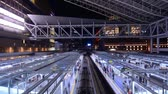 Япония : Trains in Osaka Station in Osaka, Japan. Стоковые видеозаписи