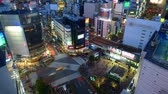 intersection : Shibuya District of Tokyo, Japan. Stock Footage