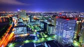 city lights : Fukuoka, Japan time lapse in the Momochihama District.