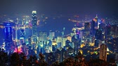 financial : Hong Kong from Victoria Peak Stock Footage