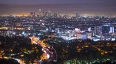 overlooking : Los angeles time lapse