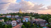dagon : Yangon, Myanmar time lapse with Shwedagon Pagoda.