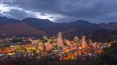 onsen : Beppu, Japan cityscape with hot spring bath houses and rising steam. Stock Footage