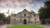 csatatér : The Alamo in San Antonio, Texas, USA. Stock mozgókép
