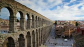 hydraulik : Segovia, Spain at the ancient Roman aqueduct. Wideo
