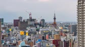 sapporo : SAPPORO, JAPAN - FEBRUARY 18, 2017: Sapporo, Japan downtown cityscape from dusk to night. Stock Footage