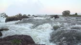 zambia : Water rapids at the top of Victoria Falls just before the drop  Slow Motion