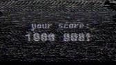 tentação : retro videogame text on old tv screen ... New quality universal vintage motion dynamic animated background colorful joyful cool video footage Stock Footage