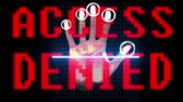 detetive : hand fingerprint biometric scan identity and approval