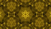cubic : ornamental geometric kaleidoscope light show star moving pattern yellow New quality universal motion dynamic animated colorful joyful dance music video footage Stock Footage