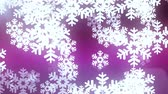 mrożonki : floating large snowflake animation background - New quality shape universal motion dynamic animated colorful joyful holiday music video footage Wideo
