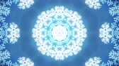 mrożonki : kaleidoscope large snowflake animation background seamless loop - New quality shape universal motion dynamic animated colorful joyful holiday music video footage