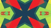 блок : ornamental geometric kaleidoscope ethnic tribal pattern animation - New quality retro vintage holiday native shape colorful universal motion dynamic animated joyful music video footage Стоковые видеозаписи