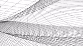 pontozott : grid net polygonal wireframe abstract drawing motion graphics animation background new quality retro vintage style cool nice beautiful 4k video footage Stock mozgókép