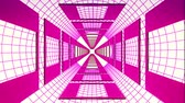 flexionar : endless flight through retro style cyber purple grid tunnel effect motion graphics animation background new quality futuristic vintage cool nice beautiful video footage