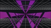 kosmos : endless flight through retro style cyber purple tunnel effect motion graphics animation background new quality futuristic vintage cool nice beautiful video footage