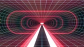 tunel : In out flight through VR RED neon BLUE grid GREEN lights cyber tunnel HUD interface motion graphics animation background new quality retro futuristic vintage style cool nice beautiful video foota Dostupné videozáznamy