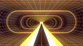 tunel : In out flight through VR YELLOW neon RED grid BLUE lights cyber tunnel HUD interface motion graphics animation background new quality retro futuristic vintage style cool nice beautiful video foota