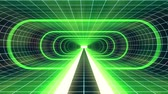 tunel : In out flight through VR GREEN neon BLUE grid YELLOW lights cyber tunnel HUD interface motion graphics animation background new quality retro futuristic vintage style cool nice beautiful video footage
