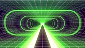 tunel : In out flight through VR GREEN neon PURPLE grid BLUE lights cyber tunnel HUD interface motion graphics animation background new quality retro futuristic vintage style cool nice beautiful video foota
