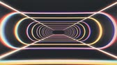 flexionar : endless neon rib lights abstract cyber tunnel flight motion graphics animation background seamless loop new quality retro futuristic vintage style cool nice beautiful video footage