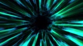 kosmos : Flight in out through GREEN BLUE neon hyperspace lights digital tunnel motion graphics overlay animation background loop new quality futuristic style cool nice beautiful video footage