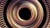 silindir : Fluid moving rotating golden metal chain eye circles seamless loop animation 3d motion graphics background new quality industrial techno construction futuristic cool nice joyful video footage