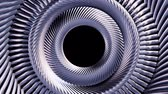silindir : Fluid moving rotating silver metal chain eye circles seamless loop animation 3d motion graphics background new quality industrial techno construction futuristic cool nice joyful video footage