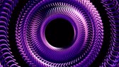alaşım : Fluid moving rotating purple metal chain eye circles seamless loop animation 3d motion graphics background new quality industrial techno construction futuristic cool nice joyful video footage Stok Video