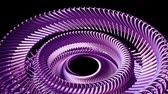 silindir : Fluid moving rotating purple metal chain eye circles seamless loop animation 3d motion graphics background new quality industrial techno construction futuristic cool nice joyful video footage Stok Video