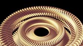 cog : moving rotating golden golden metal gears chain elements seamless loop animation 3d motion graphics background new quality industrial techno construction futuristic cool nice joyful video footage Stock Footage