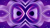 curvo : shiny ornamental purple metal chain kaleidoscope seamless loop pattern animation abstract background New quality ethnic tribal holiday native universal motion dynamic cool nice joyful music video Stock Footage