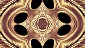 cubic : ornamental gold metal chain kaleidoscope seamless loop pattern animation abstract background New quality ethnic tribal holiday native universal motion dynamic cool nice joyful music video
